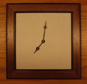 Orologio Arte Povera Quadrato Cm 27 X 27 Tombolo E Disegni